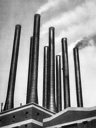 Smoke Stacks, Ford Factory, Detroit, Michigan