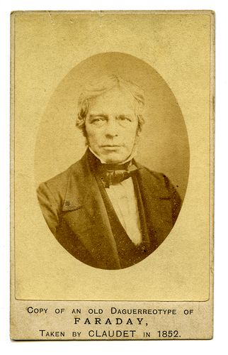 Portrait Of Michael Faraday 1850s Ca Carte De Visite Private Collection Noel Chanan LL 32825