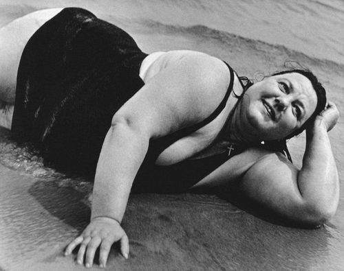 Coney Island Bather, NY (Large woman on the beach)