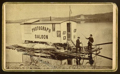 McLeons St Johns W A McOers Operator Photograph Saloon On Raft Nd Carte De Visite Private Collection Of Laddy Kite LL 35996