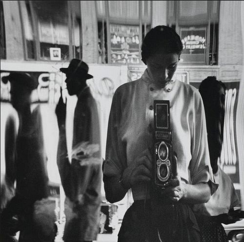 Self-Portrait in a Distorting Mirror, 42nd Street, New York