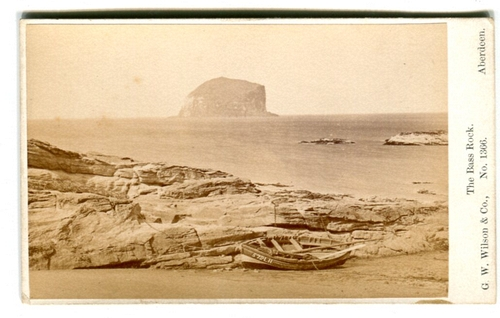 George Washington Wilson The Bass Rock No 1366 Nd Carte De Visite Collection Of Michael G Jacob LL 53339 Further Details Available