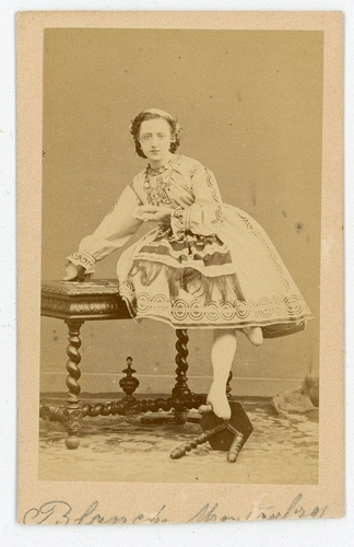 Andr Adolphe Eugne Disdri Blanche Montaubry Dancer At The Opera Comique Nd Carte De Visite Collection Of Michael G Jacob LL 82702